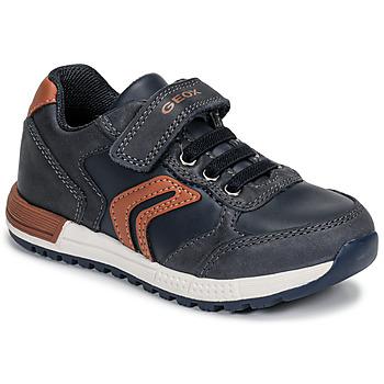 Zapatos Niño Zapatillas bajas Geox B ALBEN BOY Azul / Cognac