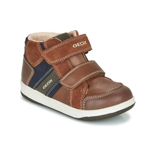 Zapatos Niño Zapatillas altas Geox B NEW FLICK BOY Marrón / Azul