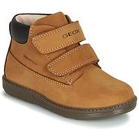 Zapatos Niño Botas de caña baja Geox B HYNDE BOY WPF Marrón