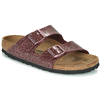 Zapatos Mujer Zuecos (Mules) Birkenstock Arizona Rojo / Glitter