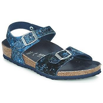 Zapatos Niña Sandalias Birkenstock Rio Navy / Glitter