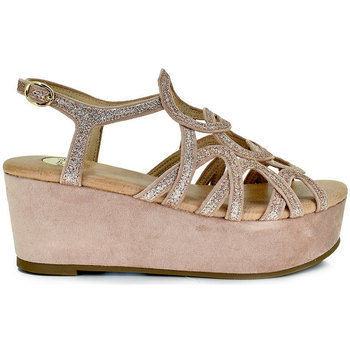 Zapatos Mujer Sandalias Exé Shoes SANDALIA PLATAFORMA GLITTER ROSA CORFU-344 Color Rosa