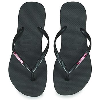 Zapatos Mujer Chanclas Havaianas SLIM LOGO METALLIC Negro