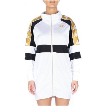 textil Mujer vestidos cortos Kappa 222 BANDA 10 BANIK 913-white-black-yellow