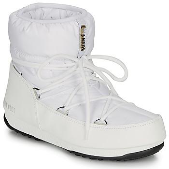 Zapatos Mujer Botas de nieve Moon Boot LOW NYLON WP 2 Blanco