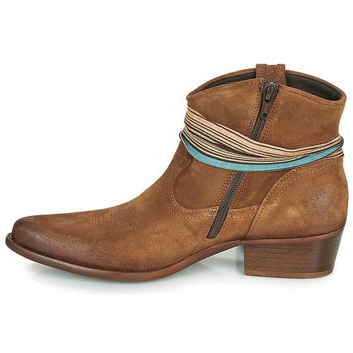 Mujer Baja Felmini Zapatos De Caña Botas Marrón Serraje 7IbgyvY6f