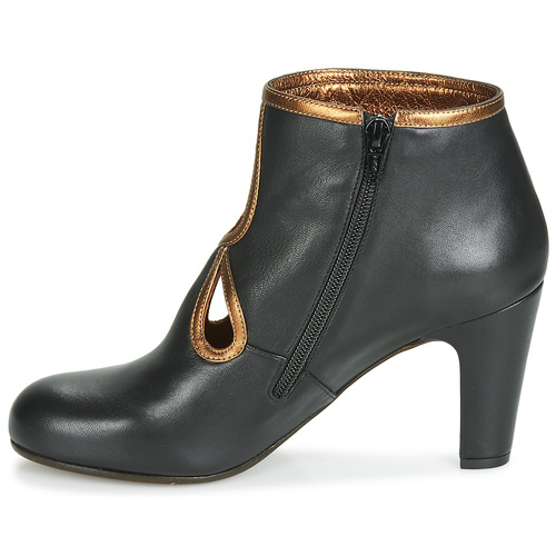 Chie Mujer Mihara Botines Zapatos Kospi NegroOro nm0wvN8