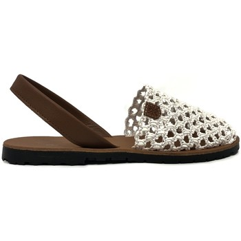 Zapatos Mujer Sandalias Popa granadella blanc&cuir 99012 Rojo
