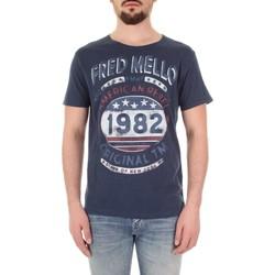 textil Hombre Camisetas manga corta Fred Mello FM19S09TG azul