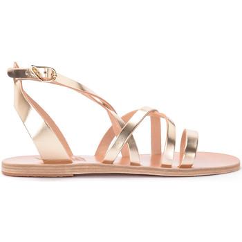 Zapatos Mujer Sandalias Ancient Greek Sandals Sandalia chancla Delia de piel Dorado