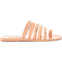 Zapatos Mujer Sandalias Ancient Greek Sandals Sandalia modelo Niki Diamonds de piel Beige
