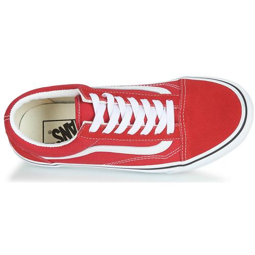 Zapatillas Rojo Zapatos Skool Old Bajas Vans Y6v7gyIbmf