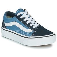 Zapatos Niños Zapatillas bajas Vans UY OLD SKOOL Marino / Blanco