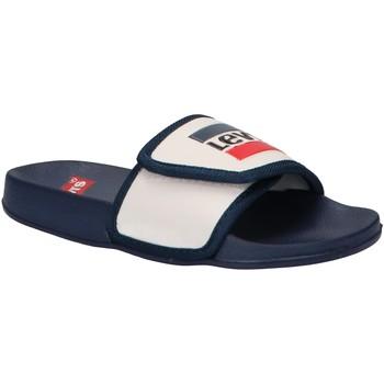 Zapatos Niños Chanclas Levi's VPOL0021S GAME Blanco
