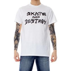 textil Hombre camisetas manga corta Thrasher 110103 Bianco