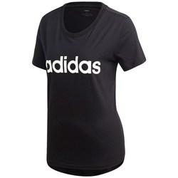 textil Mujer camisetas manga corta adidas Originals Essentials Linear Slim Negro