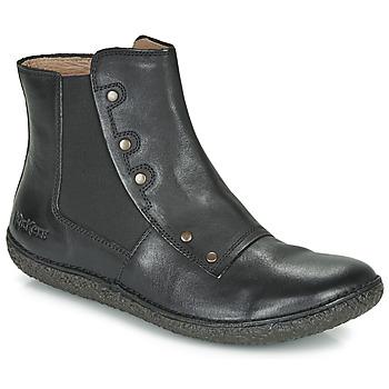 Zapatos Mujer Botas de caña baja Kickers HAPPLI Negro