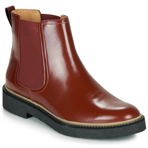 Zapatos Mujer Caña Baja Kickers Rojo Botas De Oxfordchic qSUzMVpLG