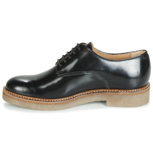 Negro Derbie Mujer Oxfork Zapatos Kickers bI7gvY6yf