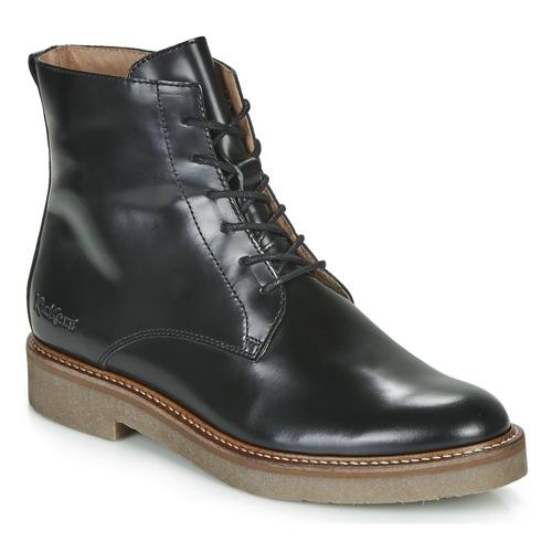 Zapatos Negro Kickers Caña Baja Oxigeno Mujer Botas De 5cL3ARqj4S
