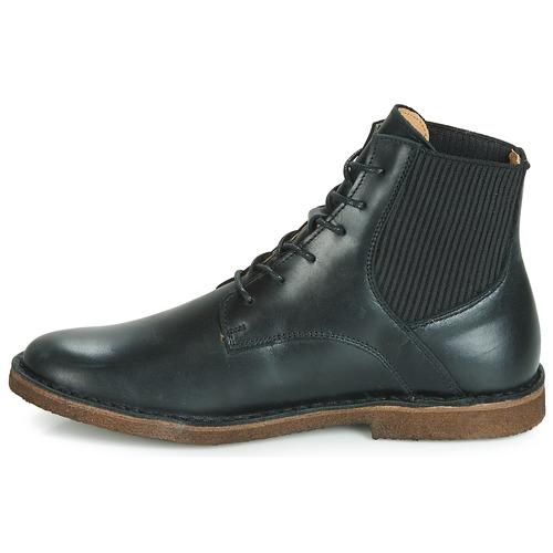De Zapatos Mujer Botas Titi Baja Caña Kickers Negro mNnv80wO