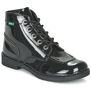 Zapatos Mujer Botas de caña baja Kickers KICK COL Negro / Barniz