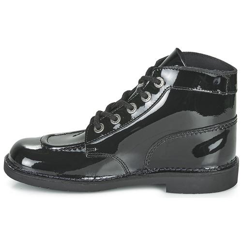 Kickers KICK COL Negro / Barniz - Envío gratis |  ! - Zapatos Botas de caña baja Mujer