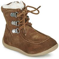 Zapatos Niños Botas urbanas Kickers BAMARA Camel