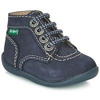 Zapatos Niños Botas de caña baja Kickers BONBON Marino