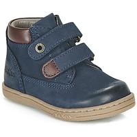 Zapatos Niño Botas de caña baja Kickers TACKEASY Marino
