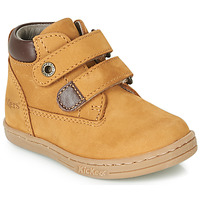 Zapatos Niño Botas de caña baja Kickers TACKEASY Camel / Marrón
