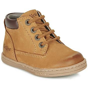 Zapatos Niño Botas de caña baja Kickers TACKLAND Camel / Marrón