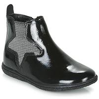 Zapatos Niña Botas de caña baja Kickers VERMILLON Negro