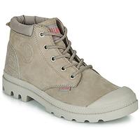 Zapatos Mujer Botas de caña baja Palladium PAMPA LO CUFF LEA Gris