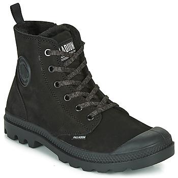 Zapatos Mujer Botas de caña baja Palladium PAMPA HI ZIP WL Negro
