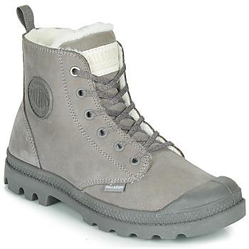 Zapatos Mujer Botas de caña baja Palladium PAMPA HI ZIP WL Gris