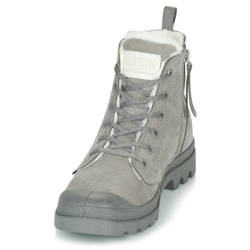 Wl Zip Botas Zapatos Mujer Palladium Caña De Pampa Hi Gris Baja F1TKcu3lJ5