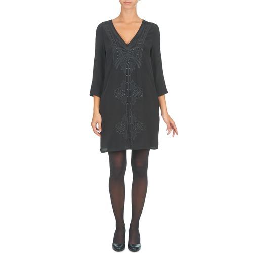Mujer See Soon Casou Negro Textil Vestidos Cortos U YHE2D9IW