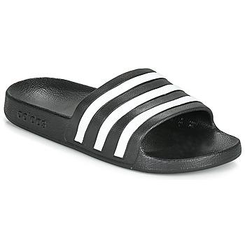 Zapatos Chanclas adidas Performance ADILETTE AQUA Negro / Blanco