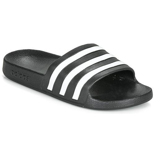 adidas Performance ADILETTE AQUA Negro / Blanco - Envío gratis | ! - Zapatos Chanclas
