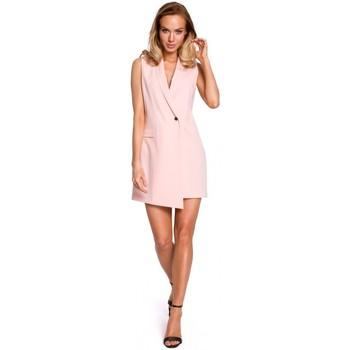 textil Mujer Chaquetas Moe M439 Vestido de chaqueta sin mangas - polvo
