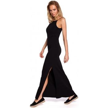 textil Mujer Tops / Blusas Moe M432 Maxi vestido de algodón con tirantes - negro