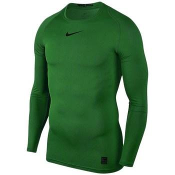 textil Hombre Camisetas manga larga Nike Pro Top Compression Verde