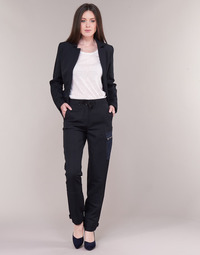 textil Mujer Pantalón cargo G-Star Raw FELDSPAR HIGH STRAIGHT CARGO Marino