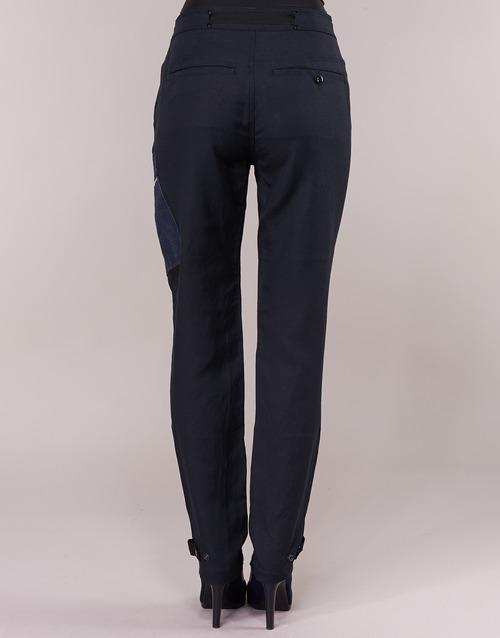Feldspar Pantalón High G Cargo Raw Mujer Straight star Textil Marino CBrxdsQtho