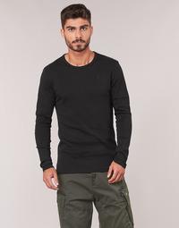 textil Hombre Camisetas manga larga G-Star Raw BASE TEE Negro