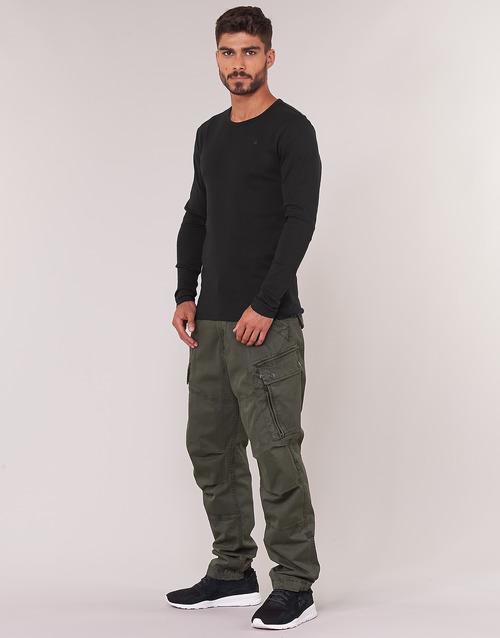 Raw Hombre Negro Base star G Textil Larga Manga Tee Camisetas eorCxWdB