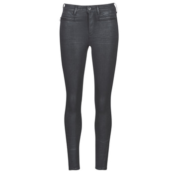 textil Mujer Vaqueros slim G-Star Raw ASHTIX ZIP HIGH SUPER SKINNY ANKLE WMN Negro