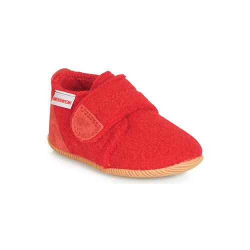 Zapatos Niños Pantuflas Giesswein OBERSTAUFFEN Rojo