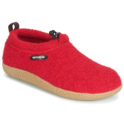 Giesswein VENT Rojo - Envío gratis | ! - Zapatos Pantuflas Mujer